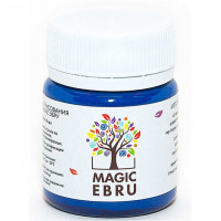 Краска Magic Ebru, 40 мл. Цвет синий
