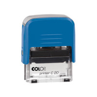 Colop Printer C20 Compact Transparent. Корпус синий