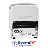 Colop Printer C40 Compact Transparent. Цвет корпуса: белый